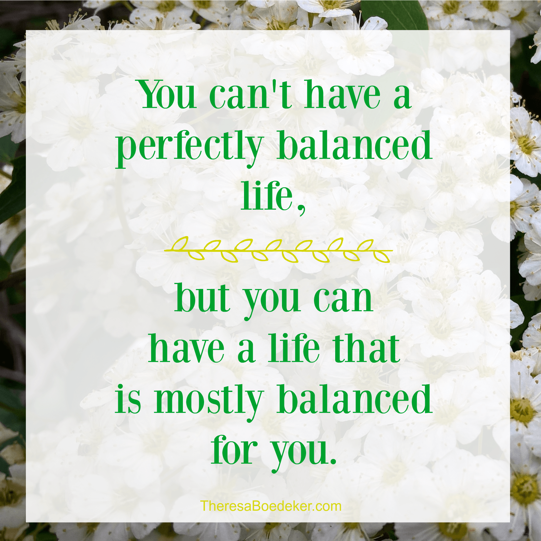 You can't have a perfectly balanced life, but you can have a life that is mostly balanced for you. Learn 5 tips to achieve your own mostly balanced life.