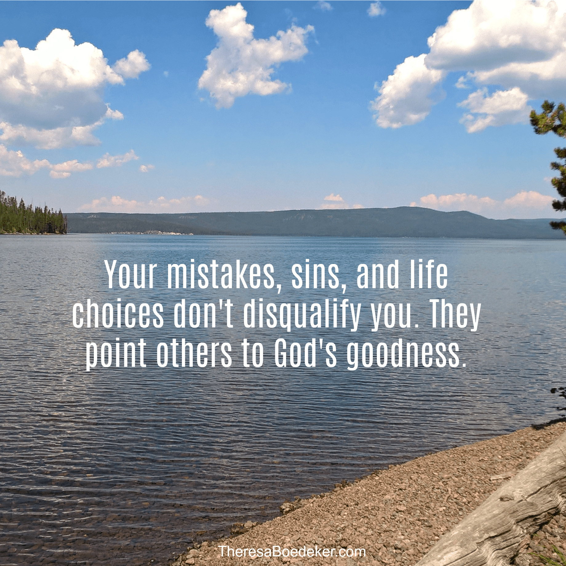 We have this false notion that God uses only nearly perfect people. The truth is that your mistakes and sins don't disqualify you, they point others to God's goodness.