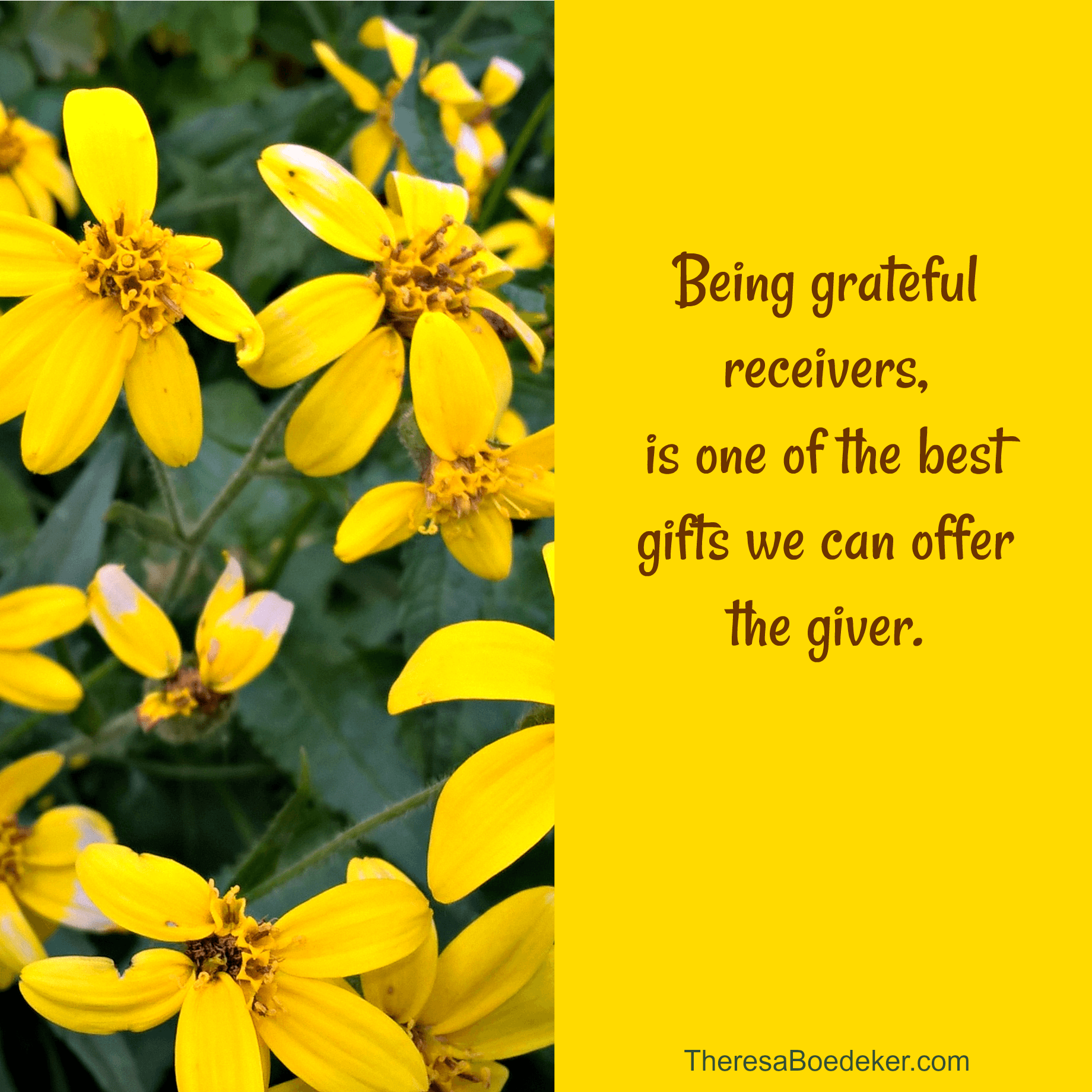 Why is it harder to receive gifts, than give gifts. Stop being critical of them or yourself. Receiving gifts graciously is a gift we can give the giver.