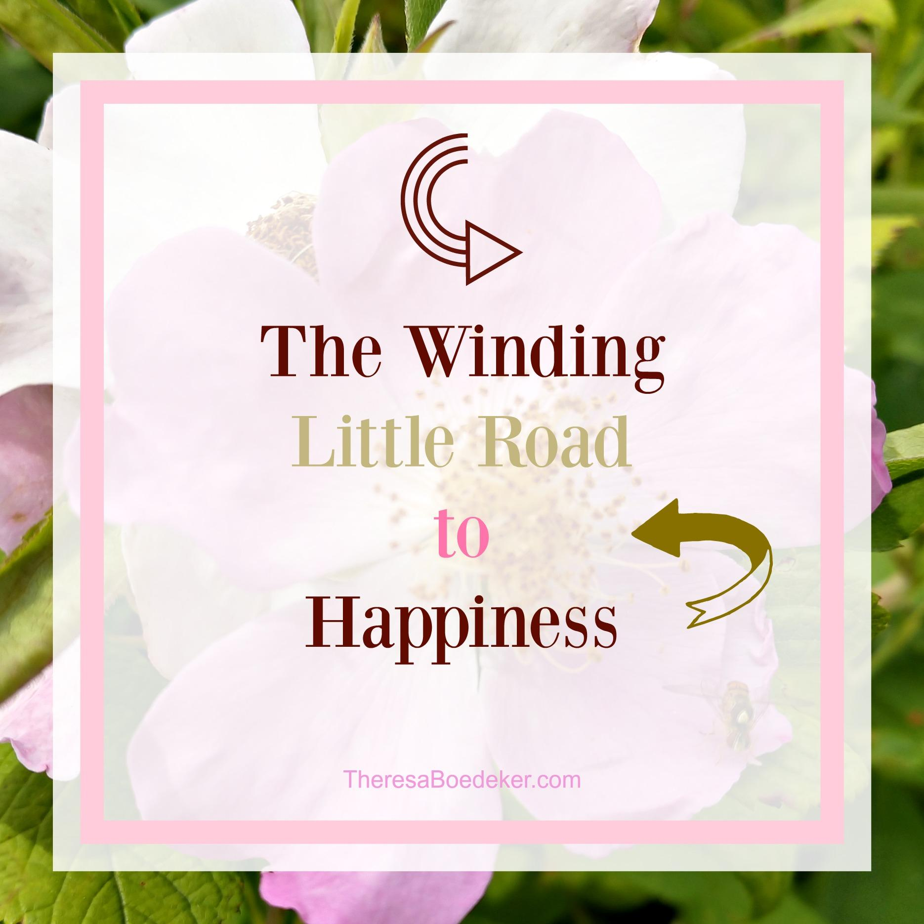 Learn to embrace the winding little road to happiness.