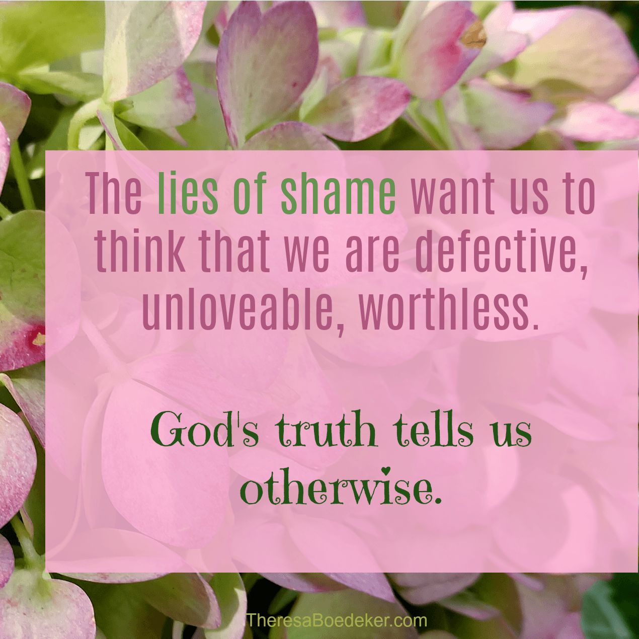 The lies of shame want to tell us we are the defective ones, the unworthy and unlovable ones. But truth can break the bonds of shame.